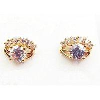 Genuine 18K real gold plating jewelry manufacturers Fashion fashion jewelry zircon stud earrings A88757 Zircon earrings