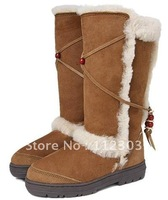 Free Shipping A++ 59 Chestnut Knee High Snow Boots For Women's Cheap Australia Sheepskin Winter Shoes Hotsale