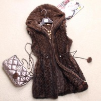 Chopop Mink fur vest mink knitted mink vest fight mink women's
