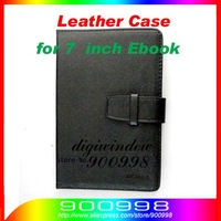 PU Leather Case for 7  inch Ebook reader and Tablet computer free shipping