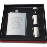 Wine gift thick - 7 quality stainless steel hip flask gift box set