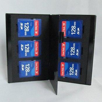 Aluminum Memory Card Holder Case SD black