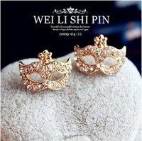 Min.order is $5 (mix order),Free Shipping,Korean jewelry super junior Bohemia masks flowers earrings, (E543)
