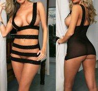 New Sexy Lingerie Dress Underwear Lady Black Teddy+G-string#lt56