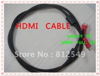 Free Shipping HDMI Male to Male Cable 1.4 Version, 3D 1080P 4K*2K HDMI Cable 1.5M 5FT HDMI Cable