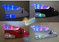 Free shipping!! 2pcs  Exterior decoration supplies flash lamp shark wind light car wheels wind light roof lamp