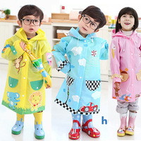 2012 High Quality hugmii child's cartoon poncho children single raincoat kids raincoats outdoor articles boys/girls rain poncho