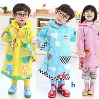 High Quality hugmii child's cartoon poncho children single raincoat kids raincoats outdoor articles boys/girls rain poncho