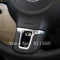 2013 VW  Lavida Tiguan Touran  Chrome  Gloss ABS Steering Wheel Paillette Refires Decoration
