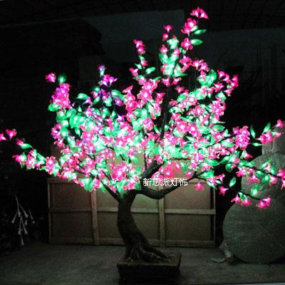 1 3 Meters Artificial Bonsai Led Cherry Blossom Tree Lights Lantern Light Tre
