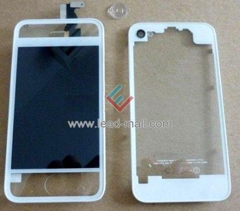 Wholesale  for iPhone 4S  Planted Transparent With Logo Conversion Kits LCD Assembly Repair Parts