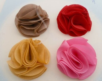Free shipping! Very popular multilayer classic Camellia DIY shoes flower brooch accessories, 4 color 24 batch!