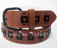 Punk fashion non-mainstream belt female personality hip-hop belt coffee white casual male strap