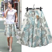 Free shipping bohemia print women's bust skirt beach plus size lady short skirt