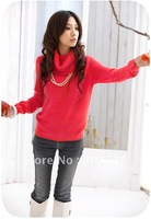 Fashin Winter Knitted Sweater long sleeve turtleneck pullover women best selling+ free shipping