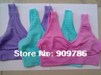 6 colors 180pcs/lot colourful Sexy Seamless Rhonda Shear Ahh bra Leisure genie bra yoga Bra - No box free shipping