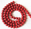 Free Shipping,235 Pcs/Lot,Red Coral(Synthetic Material),Loose Coral Round Ball Strands,Size: 8mm