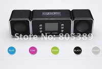 Free shipping MUSIC ANGEL Speaker UK9  Support line-in ,FM Radio,USB,FM,TF,SD card  , MP3 player for mobile phone,PC;5 colors