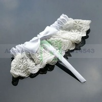 Free Shipping Retail Special Wedding Party Stuff Supplies Accessory Princess Lace Sexy Bridal Garters with Bow for Wedding