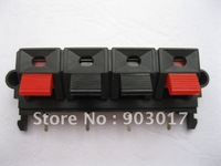 5 Pcs  58mmx20mm 4pin Red and Black Spring Push Type Speaker Terminal Board Connector WP4-19