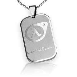 Game Jewelry Half Life Counter Strike CS Dog Tag Pendant Necklace Free With Chain - Tianium Steel(China (Mainland))