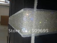 pearl&diamond table runner, wedding table runner, party home decoration, sparkling table runner LE-PTR-108W