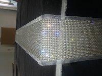 pearl&diamond table runner, wedding table runner, party home decoration, sparkling table runner LE-PTR-90W