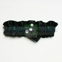 Green & Black Wedding Garters With Rhinestone Personalized Bridal Garters for Wedding Free Shipping Retails