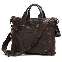 JMD Vintage Genuine real leather  Men buiness handbag  laptop briefcase  shoulder bag  / man  messenger  bag  JMD7120-300