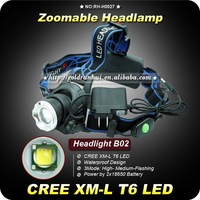 1PC NEW Rechargeable HeadLight CREE XML XM-L T6 LED 1200 Lumens 3 Mode 2x18650 Waterproof Zoom Focus Front Light  LED HeadLamp