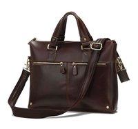 JMD Vintage Genuine real leather  Men buiness handbag  laptop briefcase  shoulder bag  / man  messenger  bag  JMD7110R-298