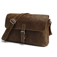 JMD Vintage Genuine real leather  Men buiness handbag  laptop briefcase  shoulder bag  / man  messenger  bag  JMD7084R-302