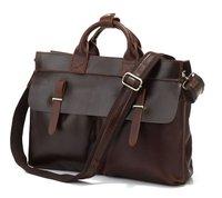 JMD Vintage Genuine real leather  Men buiness handbag  laptop briefcase  shoulder bag  / man  messenger  bag  JMD7107R-320