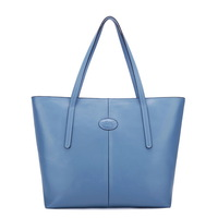 2012 women 100% genuine cow leather shoulder shopper tote blue bag,lady fashion designer famous brand hot item for new year 2013