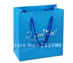 Customer Logo Recycled Paper Shopping Bag for Clothes and Shoes Packaging(China (Mainland))