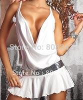 Женский эротический костюм Novelty Sexy Nurse Costume Dress Hot Cosplay Party Clubwear Women Exotic Apparel White Color MOQ 1Piece 6622