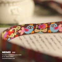 "5/8""16mmX10yards/lot Zakka handmade accessories laciness ribbon woven Jacquard Ribbon Miss Millionaire and birds free shipping"