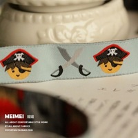 Free shipping Zakka handmade accessories laciness ribbon pirate width 1.6cm length 9m/lot Jacquard Ribbon