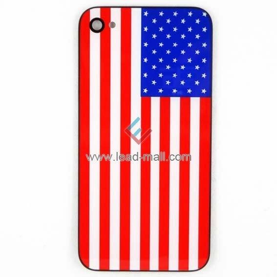 For iPhone 4S USA Flag Assembly Back housing Cover 100pcs/lot DHL Free Shipping(China (Mainland))