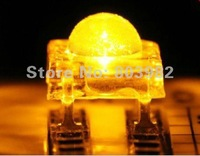 (CE&Rosh)Yellow Piranha LED 5mm flux leds four-legs DIP LED(through hole leds)585-595NM