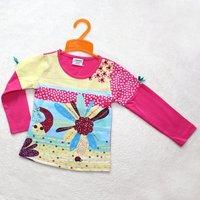 wholesale ! 6pcs/lot 2012 children's clothing baby girls long sleeve top kids high quality cotton long sleeve T shirts