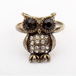 (Min order$10) Free shipping!Korean fashion elegant Owl Ring!#35(China (Mainland))