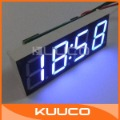 20 PCS/LOT DC 7-30V Blue LED Clock DC 12V/24V Car Motor Vehicles Clock Watch Time 0.56&quot; LED Electric Digital Clocks #090787(China (Mainland))