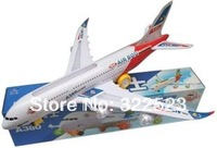 Aircraft Music Lighting Airplain Airbus A380 Toys For Children Best Gift For Baby Free Shipping,1 pcs
