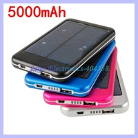 Solar battery charger 5000mah for ipad 2 3 for iphone 4 4s Samsung smart phones