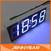 "Mini Blue LED Clocks DC 12V/24V Car Motor Vehicles Clock Watch Time 0.56"" LED Electric Digital  Clocks #090787"
