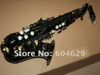 Wholesale - best New Arrival Very nice Woodwind Brass black Soprano Saxophone free case Very beautiful