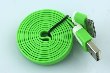 Green 1m Flat Type Extension USB Data Sync Cable Cord  SPA-0237-Green