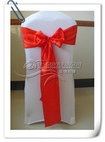 red  satin  sash/chair cover sash/satin chair bow/satin chair sash