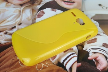 New Arrival Yellow Protective Soft TPU Back Case For Huawei G500 pro U8836D S style Cell Phone Cover 5 color free shipping